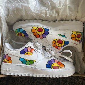 Nike Custom Air Force 1 Rainbow Flower